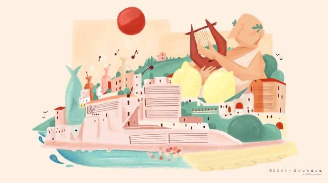Valentina Scannapieco omaggia la Costa d'Amalfi con uno spot animato dedicato al Gusta Minori 2021