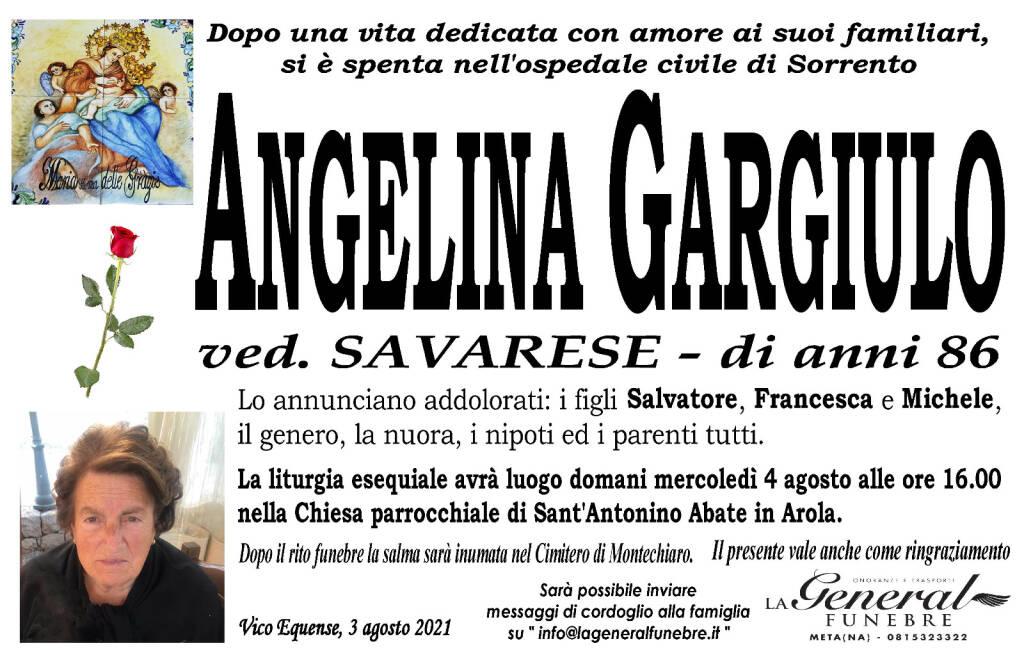 Vico Equense: all'età di 86 anni si è spenta Angelina Gargiulo, vedova Savarese