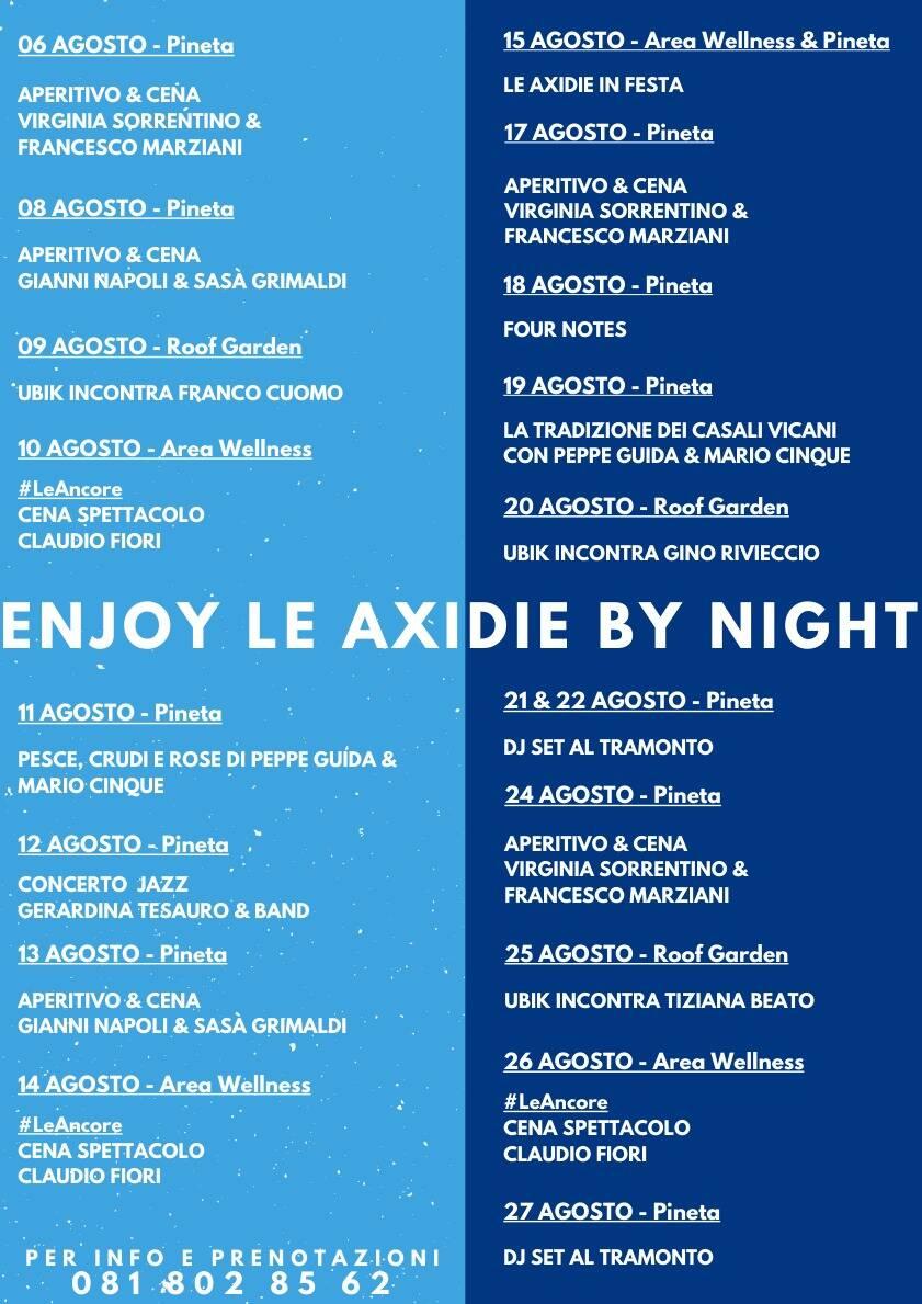 Vico Equense: enjoy le Axidie by night, tutti gli eventi del mese di agosto