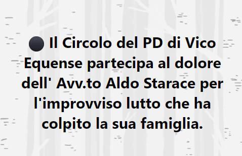 Vico Equense, grave lutto per l'Avv. Aldo Starace colpito dalla perdita del fratello