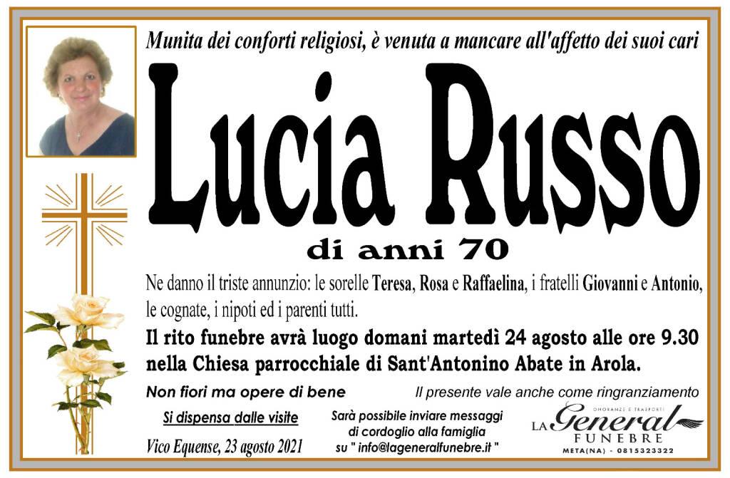 Vico Equense piange la scomparsa di Lucia Russo