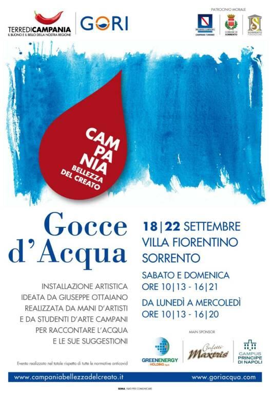 """A Sorrento """"Gocce d'Acqua"""", l'esposizione dal vivo dell'installazione artistica opera di Giuseppe Ottaiano"""