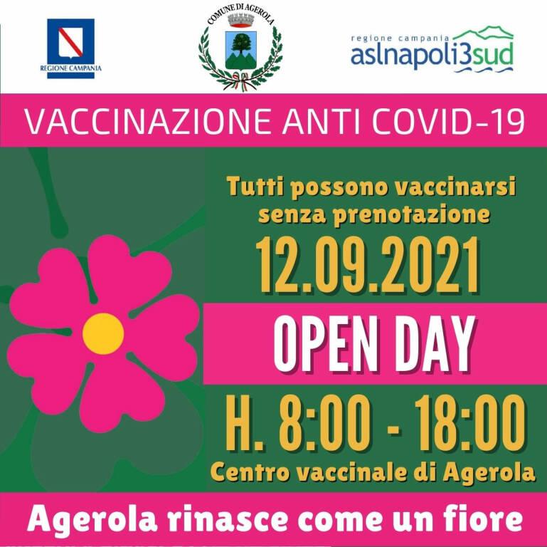 Agerola, domenica 12 settembre open day vaccinale al Centro Polifunzionale Mons. Andrea Gallo