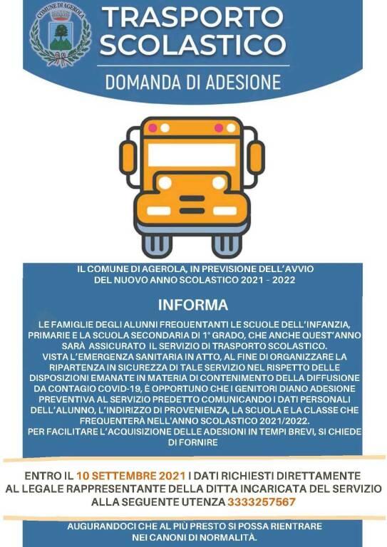 Agerola, trasporto scolastico per l'anno 2021-2022. Ecco come aderire