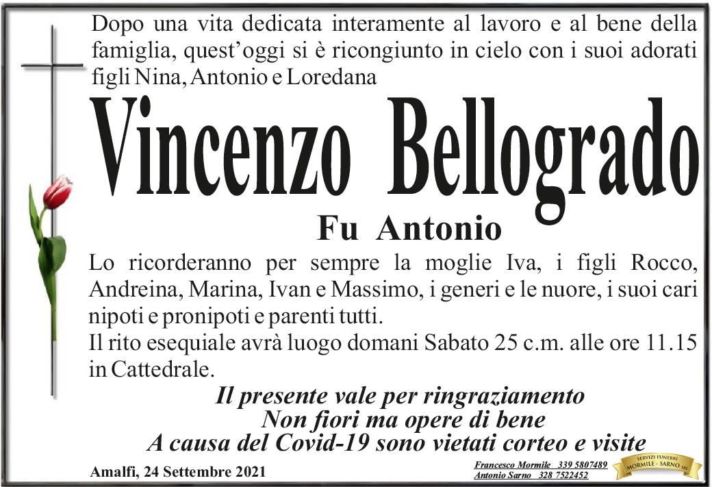 Amalfi in lutto per Vincenzo Bellogrado