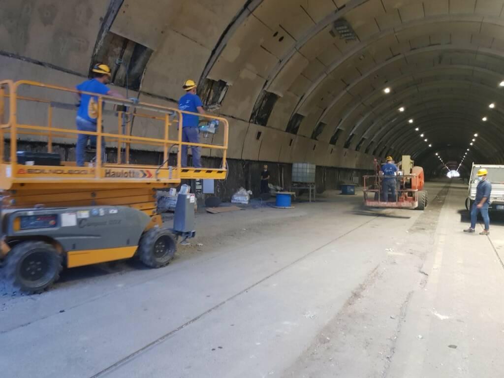 Anas: aggiornamento dei lavori di manutenzione straordinaria nella Galleria Vittoria di Napoli