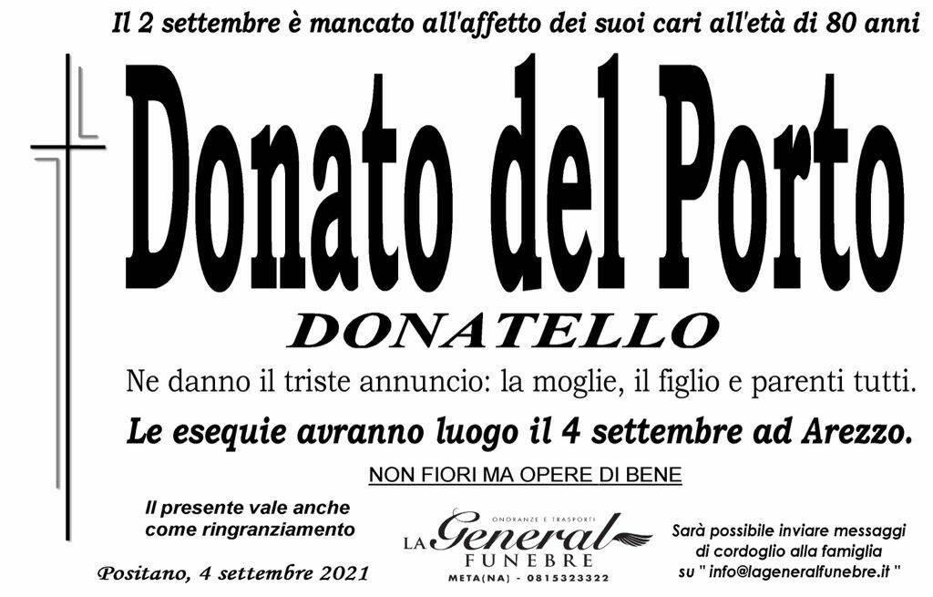 Anche Positano ricorda Donato del Porto, mancato all'affetto dei suoi cari all'età di 80 anni