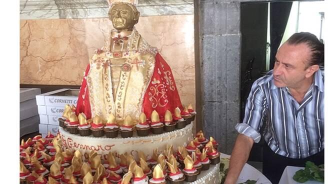 Antonio Cafiero dolce per San Gennaro