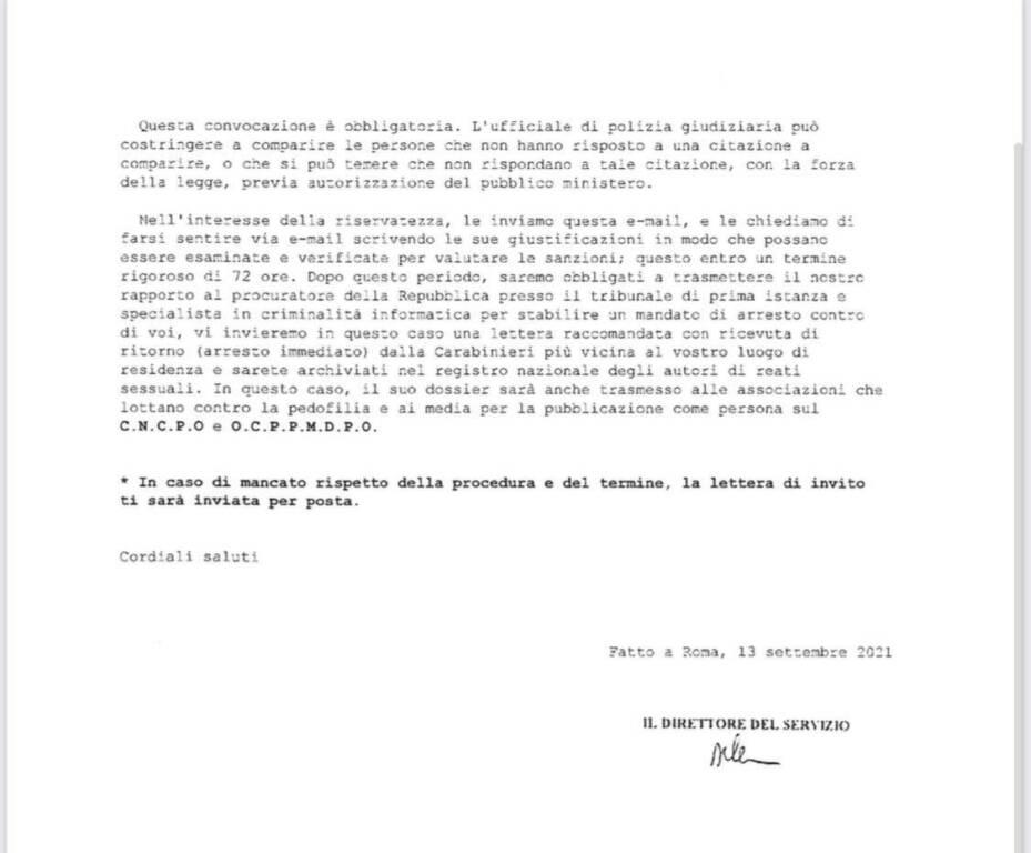 Attenzione alle false email apparentemente provenienti dall'Autorità Garante per l'infanzia e l'adolescenza