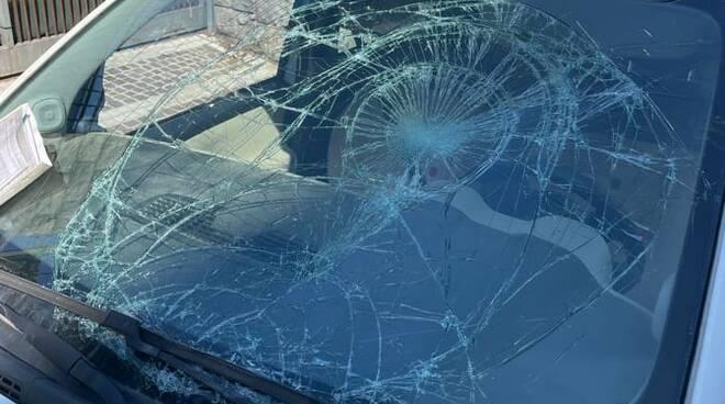 Auto che ha fatto incidente a Sorrento