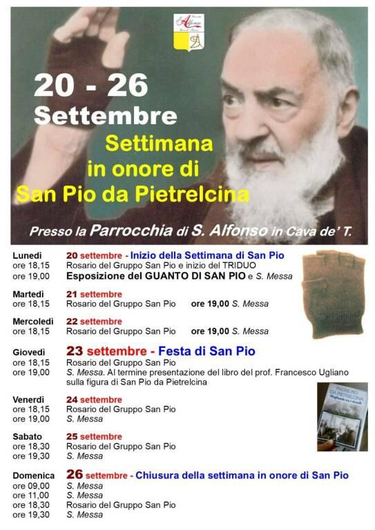 Cava de' Tirreni, alla Parrocchia S. Alfonso Maria de' Liguori settimana in onore di San Pio da Pietrelcina