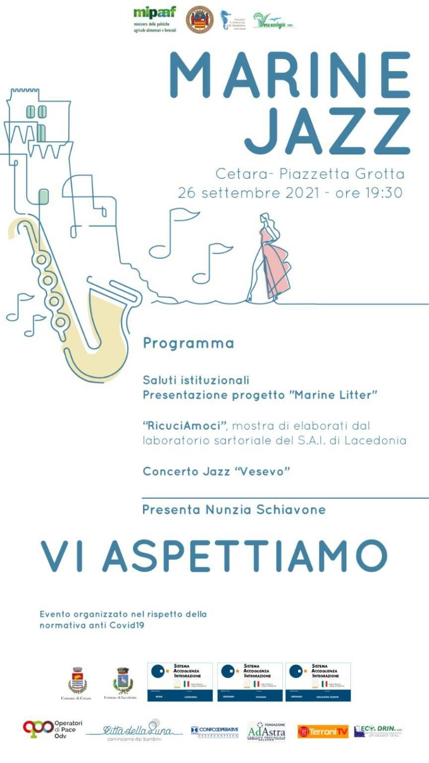 """Cetara: in piazzetta Grotta, domenica 26 settembre a partire dalle 19.30 """"Marine Jazz"""""""