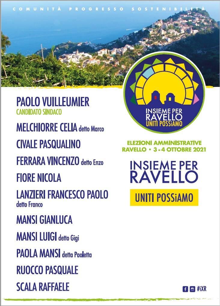 Ecco la squadra di Insieme per Ravello