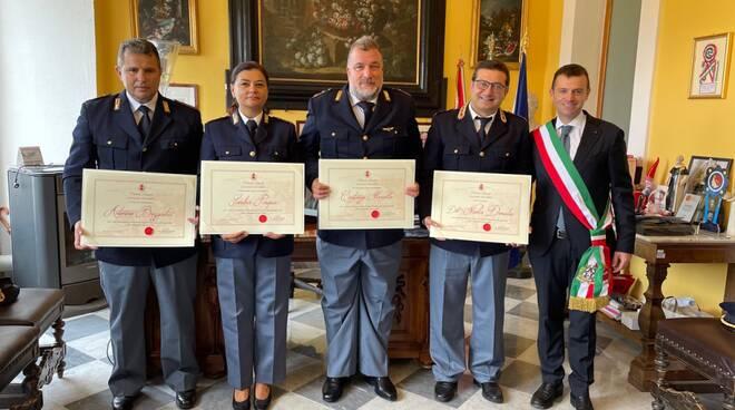 Encomi solenni per quattro poliziotti del commissariato di Sorrento