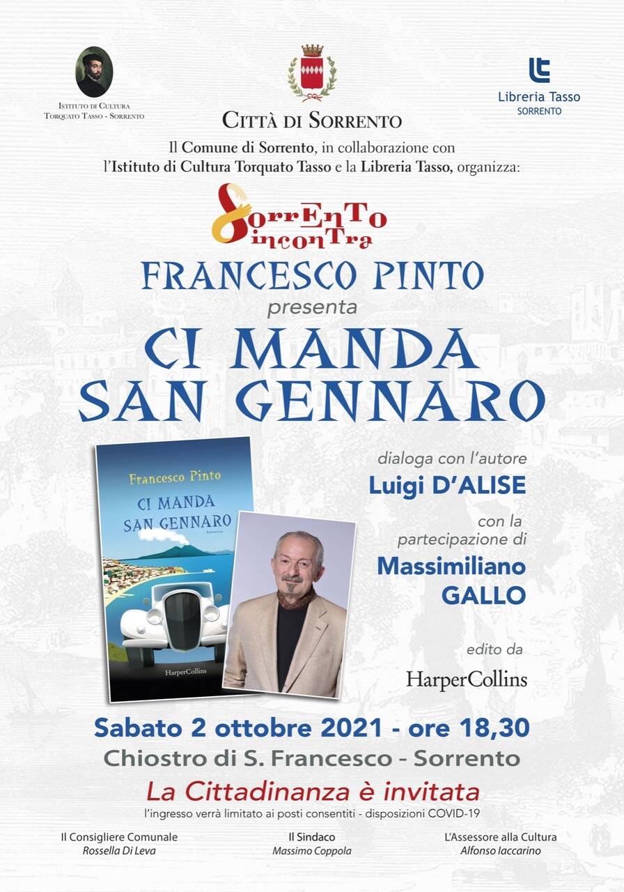 """Francesco Pinto a Sorrento Incontra con """"Ci manda San Gennaro"""""""