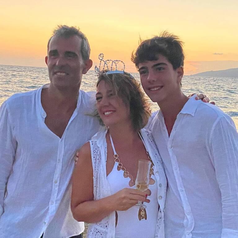 Giusy Mandara con la famiglia