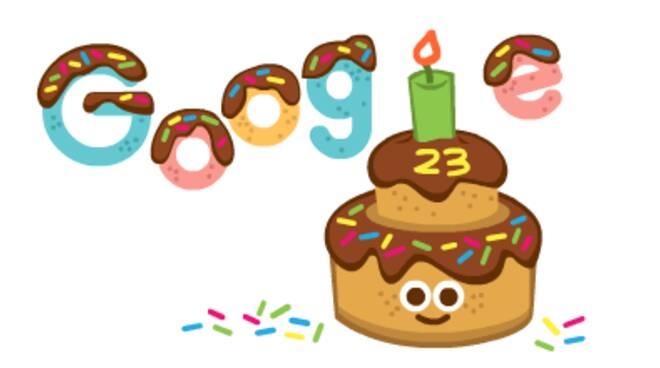 Google festeggia i suoi 23 con il doodle
