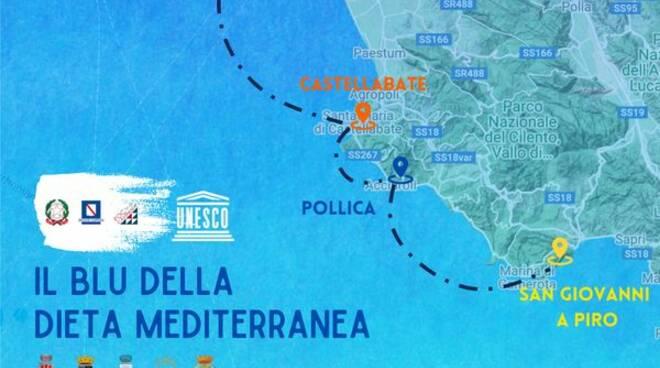 """""""Il Blu della Dieta Mediterranea"""" unirà la Costiera Amalfitana a quella Cilentana"""