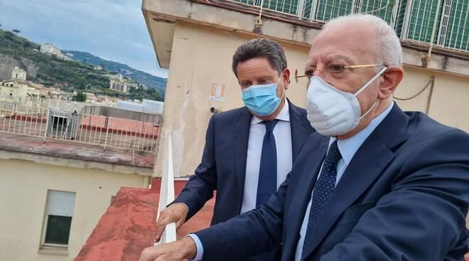 Il Governatore Vincenzo De Luca visita il Distretto Sanitario di Sant'Agnello dove sorgerà l'Ospedale Unico