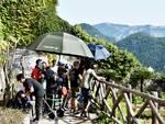 """Il set di """"Sotto la luna di Amalfi"""" fa tappa a Villa Rufolo"""
