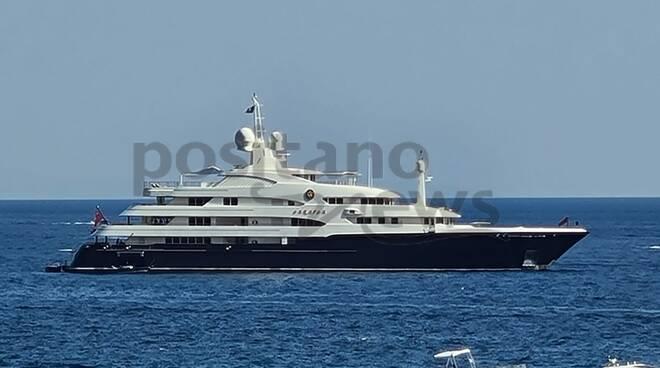 Lo Yacht Sarafsa di proprietà di Re Abdullah di Giordania a Positano