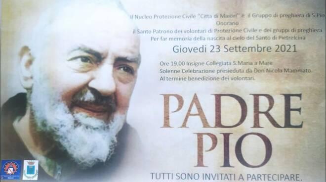 Maiori, il Nucleo Comunale di Protezione Civile onorerà S. Pio da Pietralcina con una messa solenne