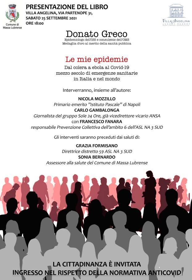 Massa Lubrense: sabato 25 settembre la presentazione del libro di Donato Greco
