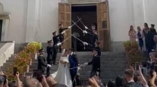 Matrimonio militare a Ravello: sposo nell'esercito e padre della sposa Colonnello