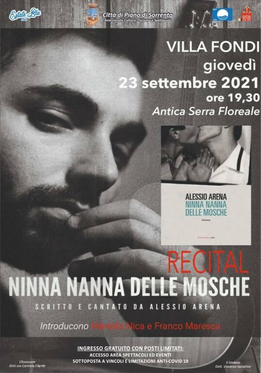 """Piano di Sorrento, giovedì 23 settembre a Villa Fondi appuntamento con il Recital """"Ninna nanna delle mosche"""""""