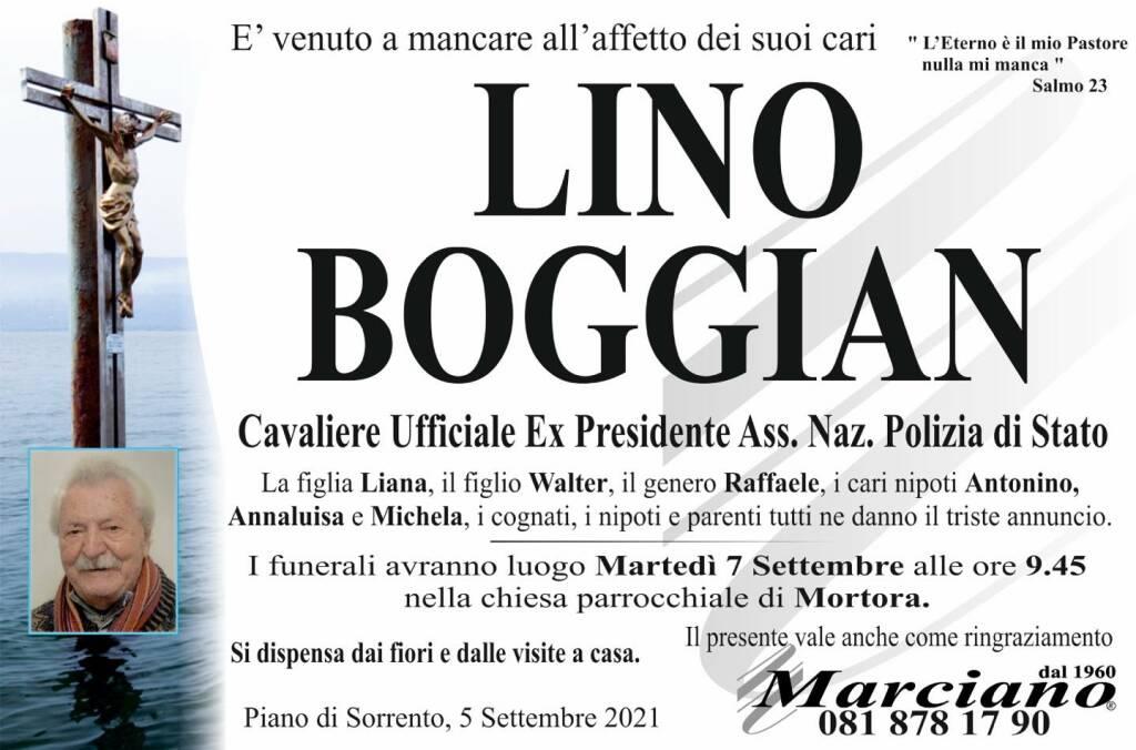 Piano di Sorrento in lutto per Lino Boggian, Cavaliere Ufficiale Ex Presidente Ass. Naz. Polizia di Stato