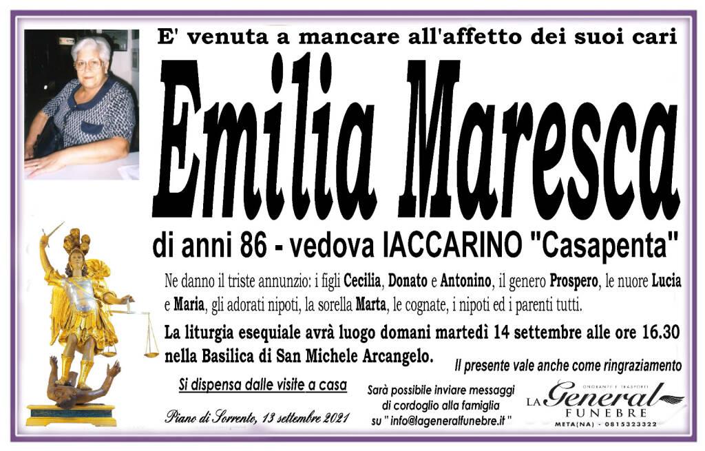 Piano di Sorrento piange la scomparsa di Emilia Maresca