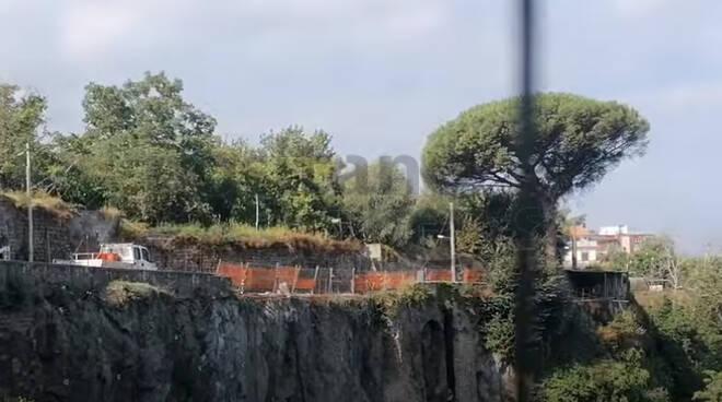 Piano di Sorrento, proseguono i lavori per la messa in sicurezza di Via Ponte Orazio