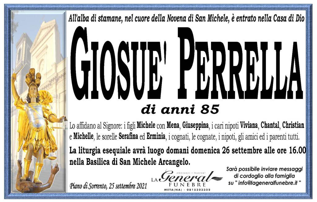 Piano di Sorrento, San Michele ha chiamato vicino a se Giosuè Perrella