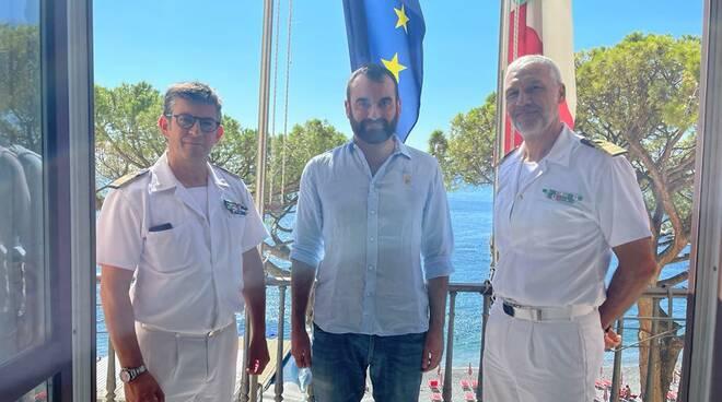 Positano e Amalfi, visita del Capitano Rosario Loreto capo Compartimento Marittimo di Salerno