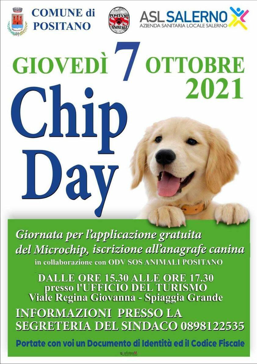"""Positano, il 7 ottobre """"Chip Day"""""""
