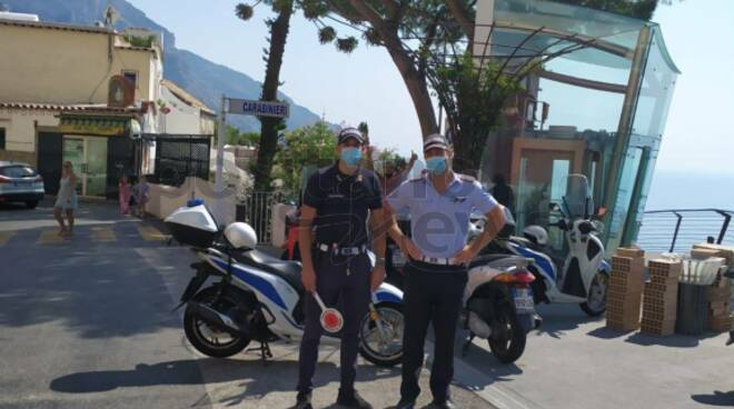 Positano il comandante Sergio Ponticorvo conferma il quotidiano impegno dei vigili per assicurare la totale sicurezza sul territorio