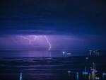 Positano: lo spettacolo de Li Galli illuminata dai fulmini nelle foto di Fabio Fusco