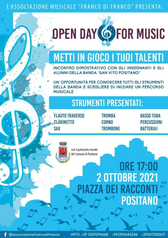 Positano: Open Day for Music