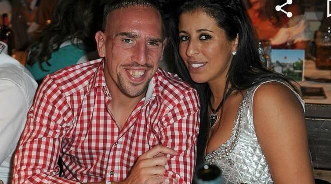 Ribery e la moglie
