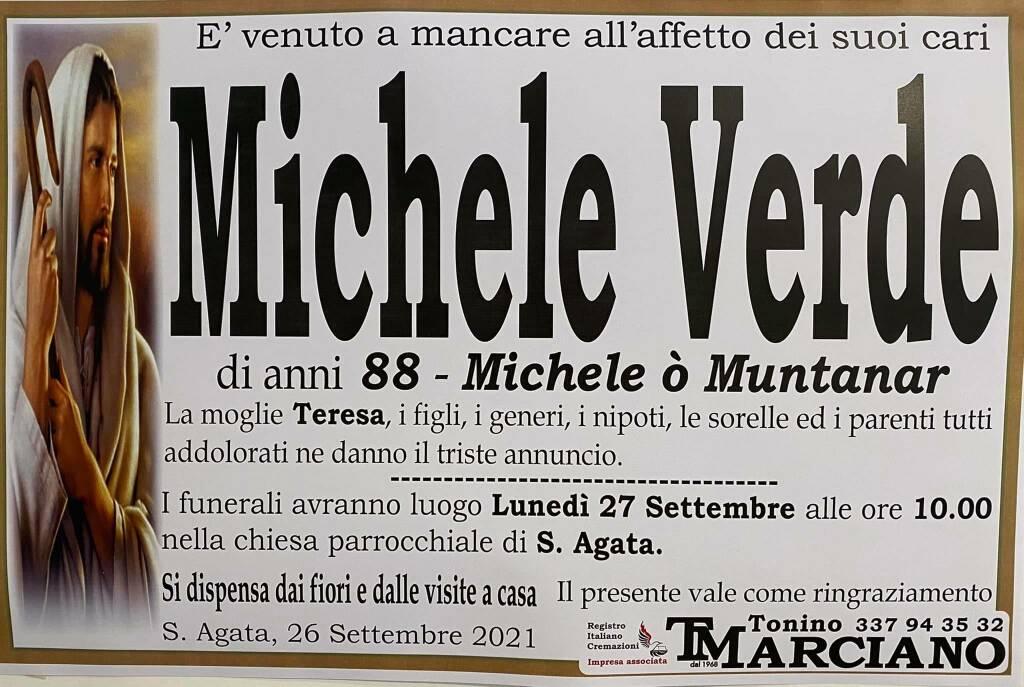 Sant'Agata piange la scomparsa dell'88enne Michele Verde (Michele ò Muntanar)