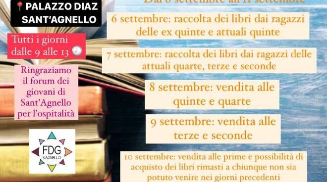 Sant'Agnello, dal 6 all'11 settembre Mercatino dei libri usati del Liceo Publio Virgilio Marone di Meta