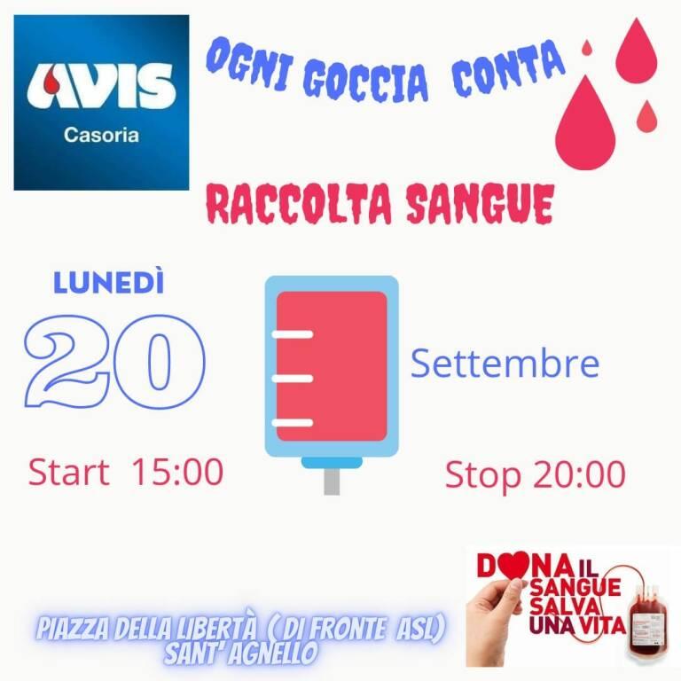 Sant'Agnello, oggi pomeriggio in Piazza della Libertà postazione per la donazione del sangue
