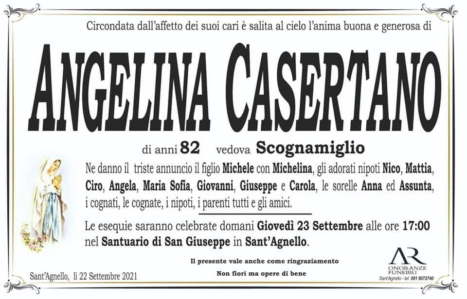 Sant'Agnello piange l'82enne Angelina Casertano, vedova Scognamiglio