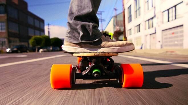 Skateboard multati a Salerno