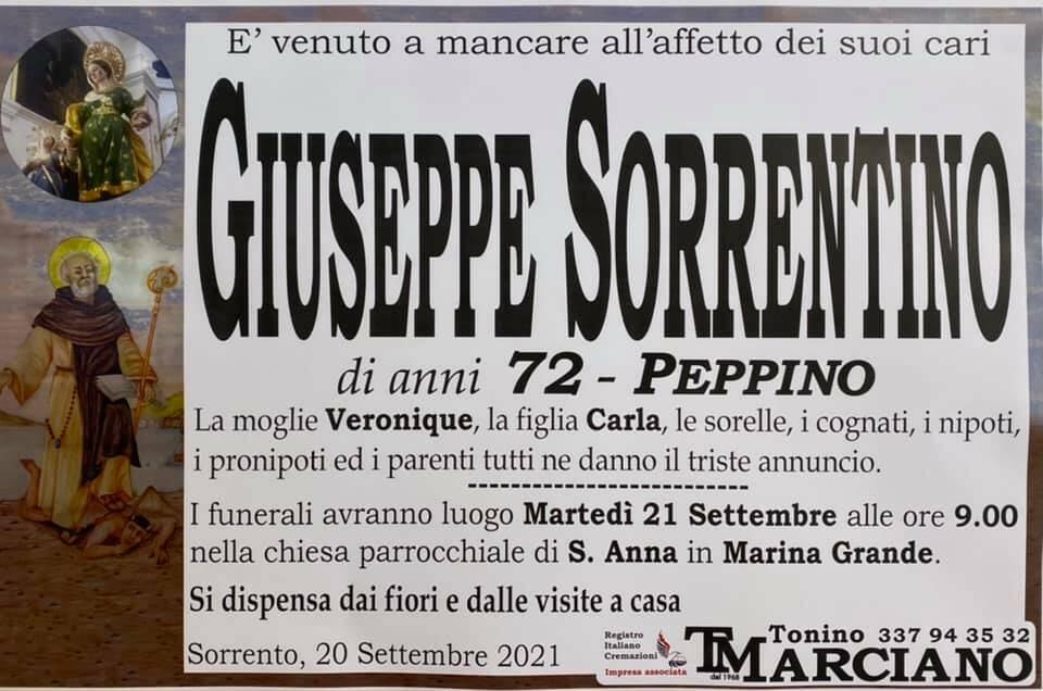 Sorrento, addio al 72enne Giuseppe Sorrentino (Peppino)