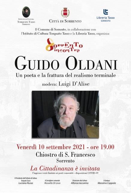 Sorrento, al Chiostro di San Francesco incontro con il candidato al Nobel per la Letteratura Guido Oldani