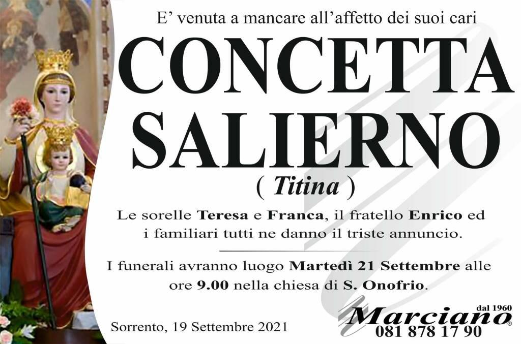 Sorrento, lutto per la scomparsa di Concetta Salierno (Titina)