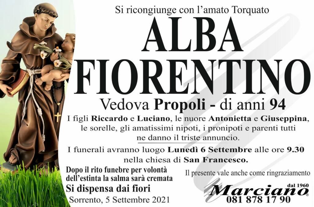 Sorrento piange la scomparsa della 94enne Alba Fiorentino, vedova Propoli