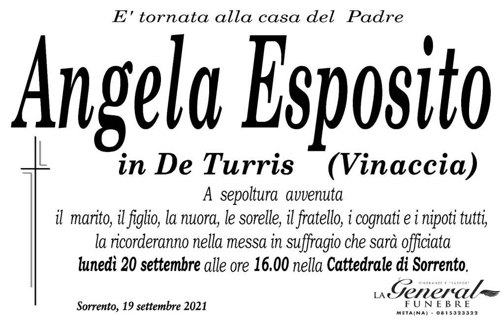 Sorrento piange la scomparsa di Angela Esposito in De Turris (Vinaccia)