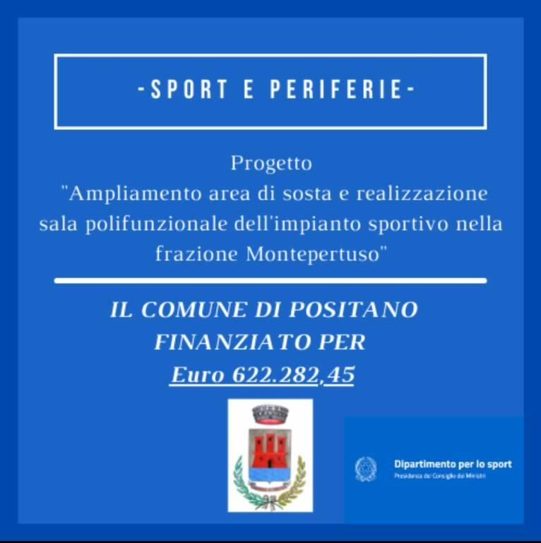 Sport e periferie, il Comune di Positano ottiene un finanziamento per 620mila euro